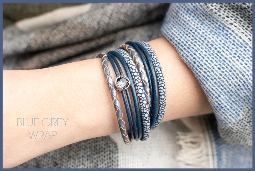 Inspiratie Blue grey wrap