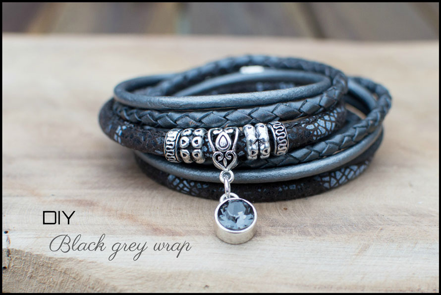 Inspiratie Black grey wrap