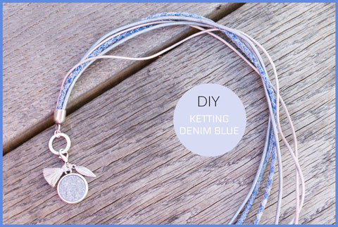 Inspiratie ketting light denim blue