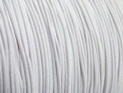 Gekleurd elastiek 0,8mm 10 meter wit