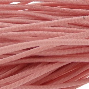Gekleurd elastiek rond 0.8mm 10 meter zalm roze