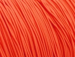 Gekleurd elastiek 0,8mm 10 meter neon oranje