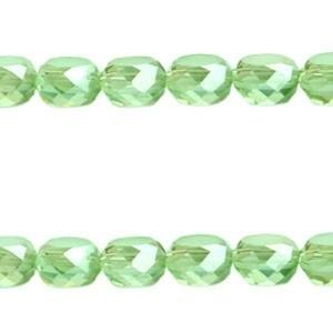 Facetkraal vlak geslepen 8mm crystolite green ab