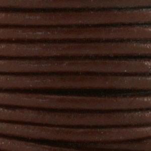 DQ leer rond 3mm warm bruin 1 meter