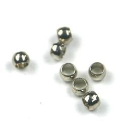 Knijpkraal 2mm zilver zakje 20 stuks