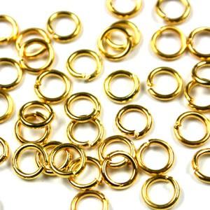 Buigring goud zakje 20 stuks 6mm