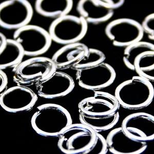 Buigring antiek zilver zakje 10 stuks 12mm