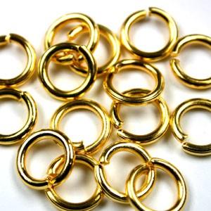 Buigring goud zakje 15 stuks 10mm