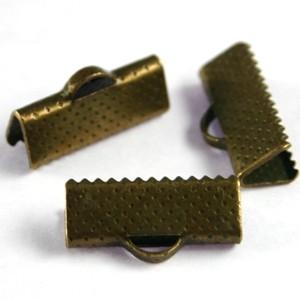 Veter/lint klem 7mm brons