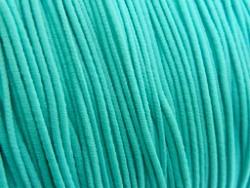Gekleurd elastiek 0,8mm 10 meter aqua blauw