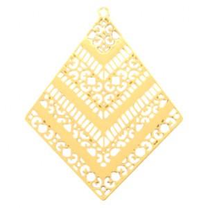 Bedel bohemian ruit goud 50x40mm