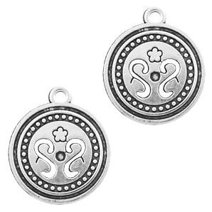 Bedel coin 22x19mm zilver