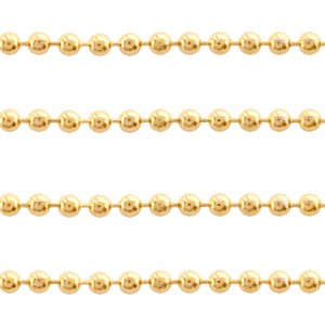 Bolletjesketting stainless steel 1.4mm goud per meter