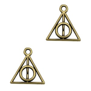 DQ bedel triangle pendant 13x12mm brons