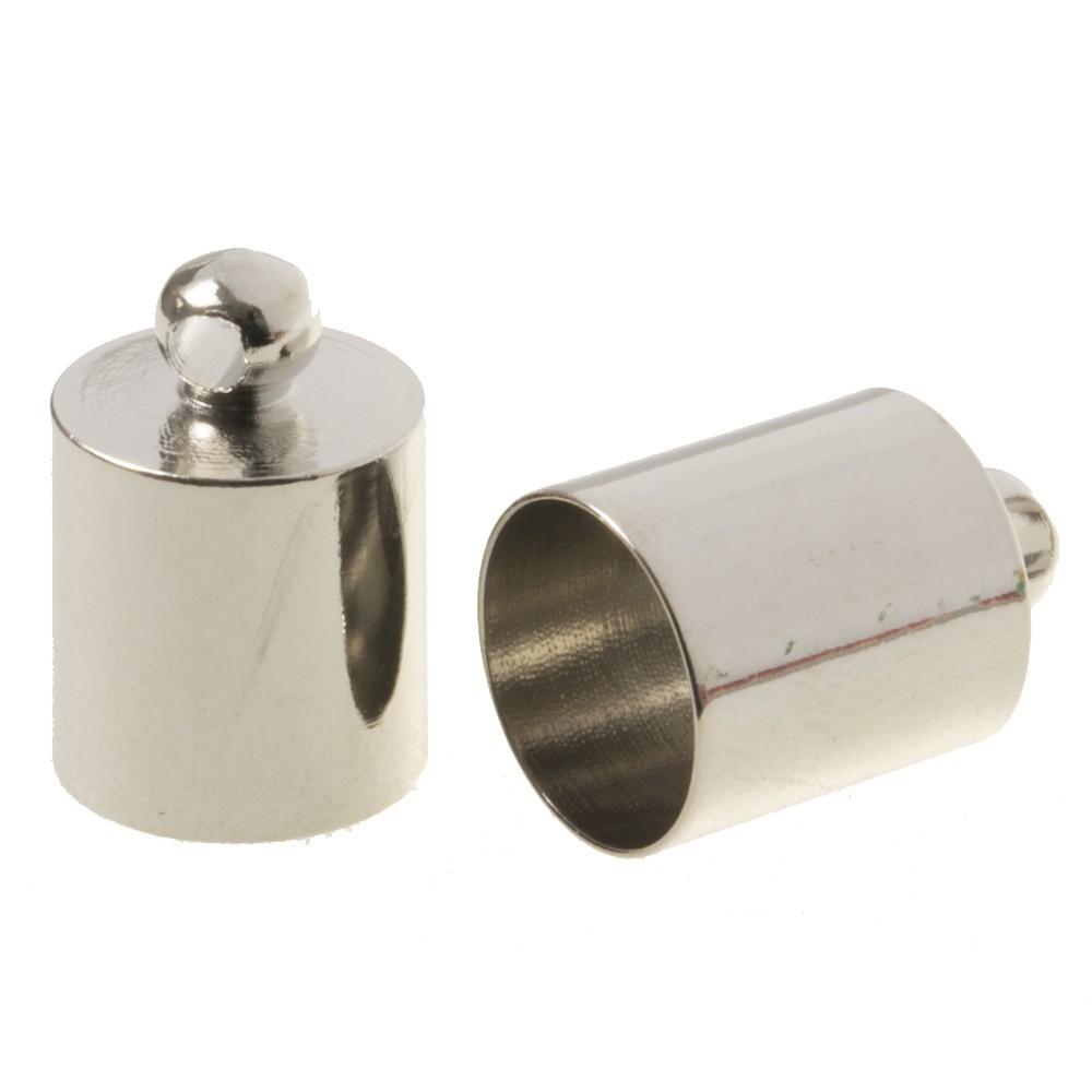DQ eindkap antiek zilver (geschikt voor 8mm leer/koord)