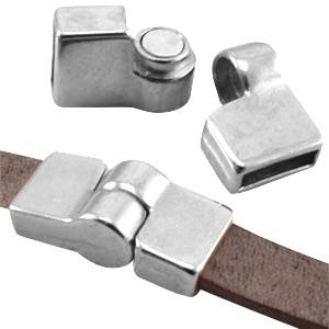 DQ magneetslot scharnier voor 10mm leer zilver