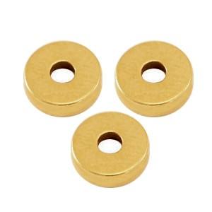 DQ metalen disc rondellen 6x2mm Antiek goud (nikkelvrij)
