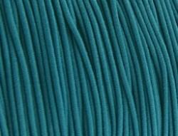 Gekleurd elastiek draad rond 0.8mm aqua blauw groen 1 meter