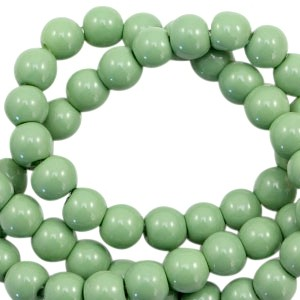 Glaskraal rond 6mm opaque cedar green