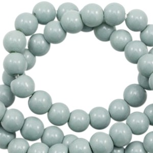 Glaskraal rond 6mm opaque eton blue