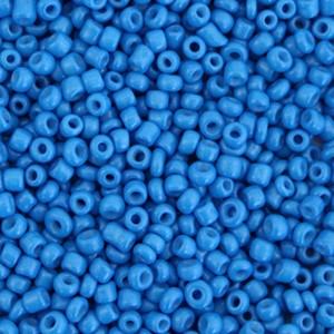 Glaskralen rocailles 12/0 2mm rond 8 gram palace blue