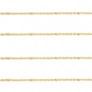 Jasseron balletjes stainless steel 1.4mm goud per meter