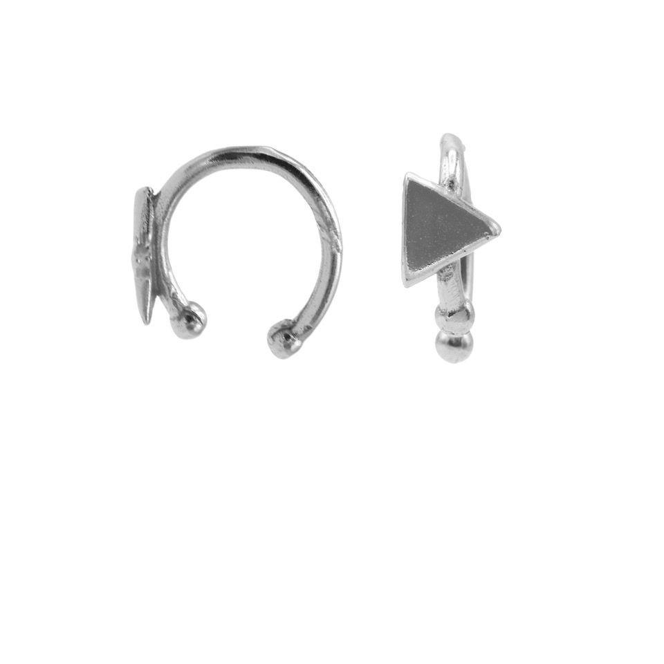 Karma earcuff triangle 925 Sterling Silver (1piece)