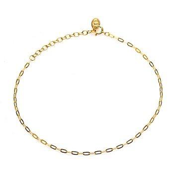 Karma enkelbandje ovale ketting goud