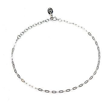 Karma enkelbandje ovale ketting zilver
