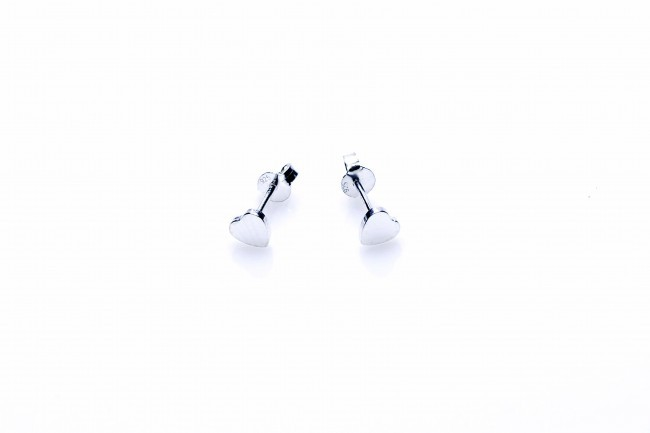 Karma minimalistische oorbellen symbols heart silver (per paar)