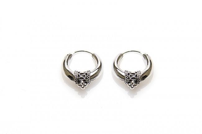 Karma oorbellen bali hoops silver 20mm (per paar)