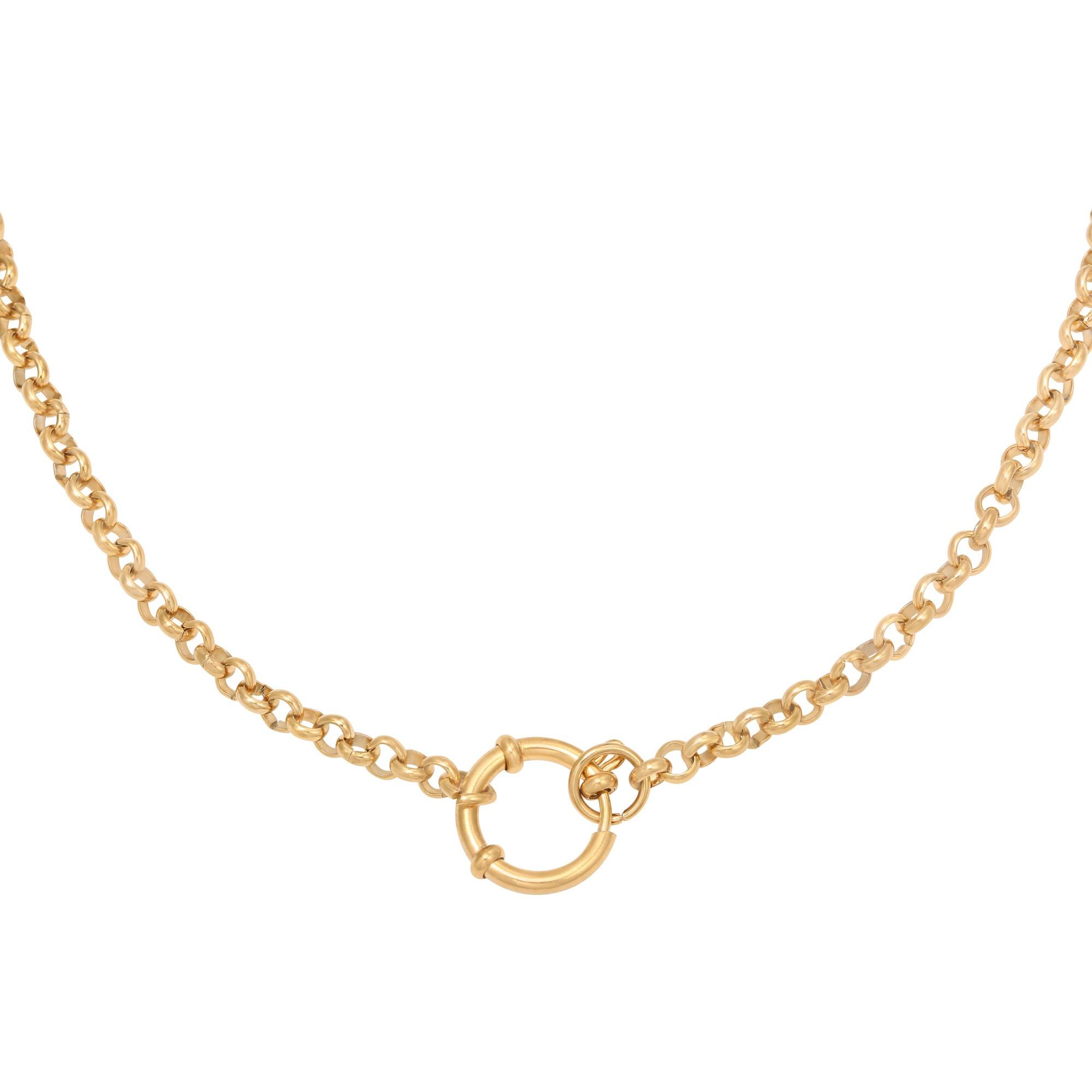 ketting-chunky-lock-stainless-steel-goud