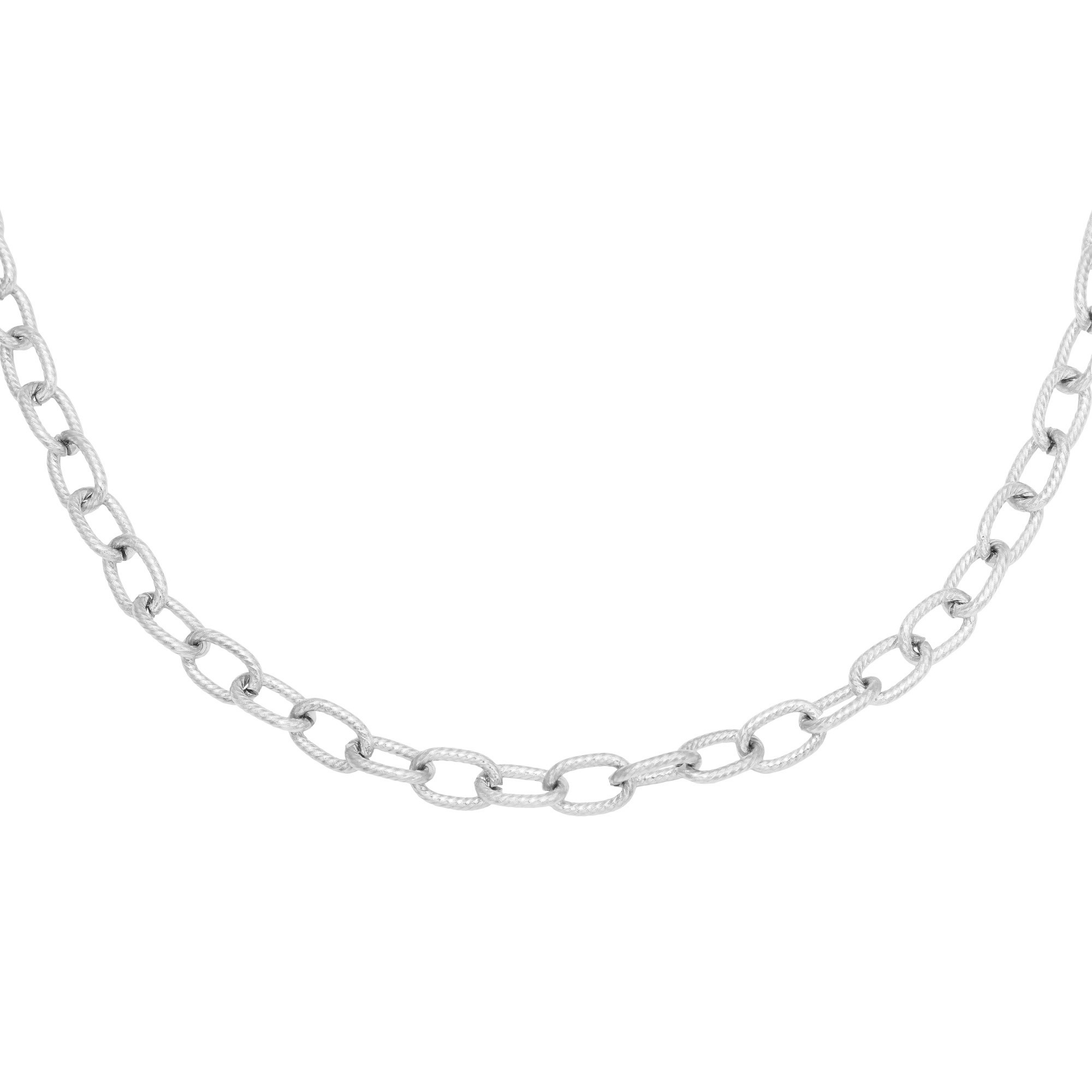 ketting-circles-stainless-steel-zilver