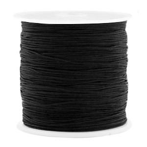 Macrame draad 0.5mm black per meter