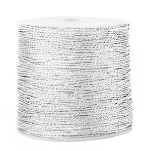 Macrame draad 0.5mm silver per meter