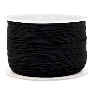 Macrame draad 0.5mm zwart per meter