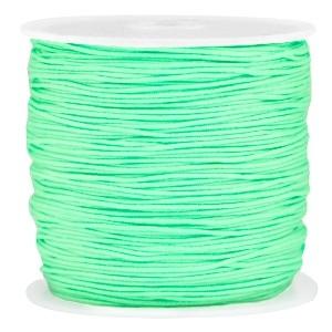 Macramé draad 0.8mm bright spring green per meter