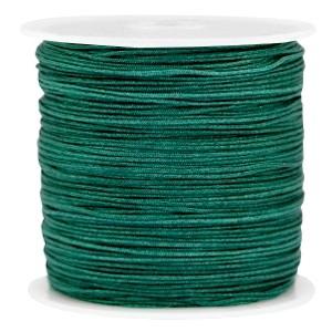 Macramé draad 0.8mm dark emerald green per meter
