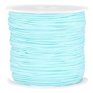 Macramé draad 0.8mm light aquamarine blue per meter