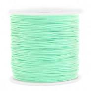 Macrame draad 0.8mm light turquoise green per meter