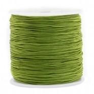 Macrame draad 0.8mm olive green per meter