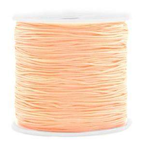 Macrame draad 0.8mm peach orange per meter