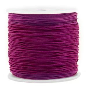 Macrame draad 0.8mm royale aubergine purple per meter