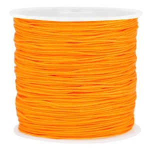 Macramé draad 0.8mm spicy orange per meter