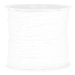 Macramé draad 0.8mm white per meter