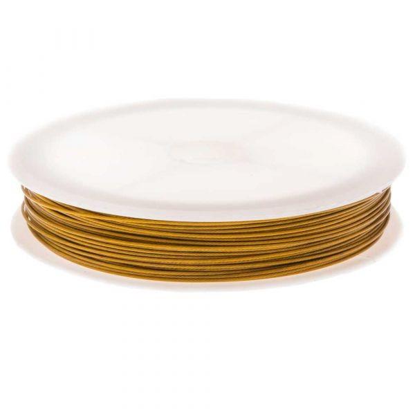 Metaaldraad goud 0.38mm rol 60 meter VOORDEELROL