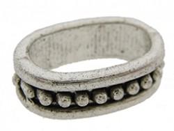 Metalen schuiver ovaal zilver 4x13mm (voor meerdere koorden leer)