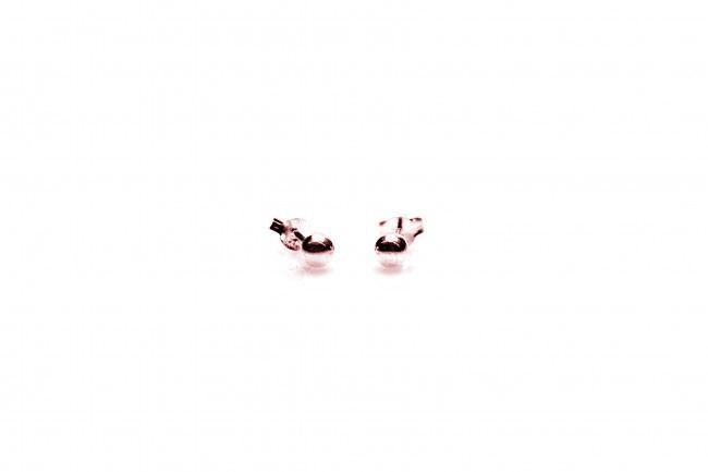 Karma minimalistische oorbellen balls 3mm 925 sterling zilver (roseplated) (per paar)
