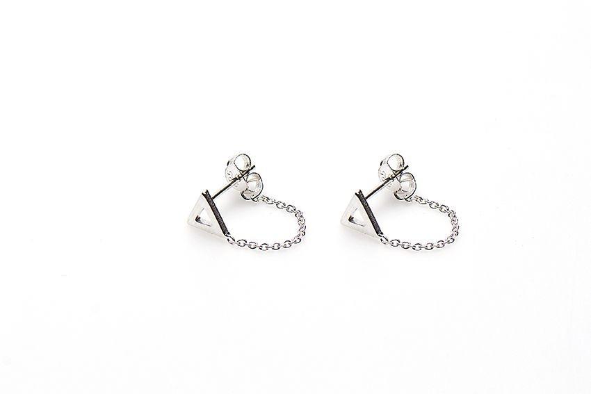 minimalistische-oorbellen-chain-open-triangle-925-sterling-zilver