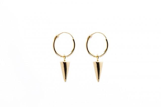 Minimalistische Oorbellen Zilver : Karma minimalistische oorbellen hoops symbols cone sterling